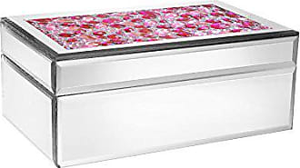 The Jay Companies American Atelier Rectangle Mirror Jewelry Box-Pink