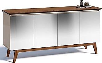 Imcal Buffet Classic 4 Portas com Espelho Off White/Freijó - Imcal