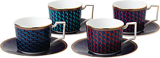 Wedgwood Byzance Teacup & Saucer - Set of 4