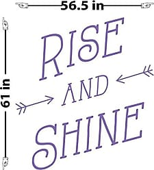 The Decal Guru Rise and Shine Wall Decal (Lavender, 61 (H) X 57 (W))