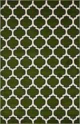Unique Loom Trellis Collection Moroccan Lattice Dark Green Area Rug (4 x 6)