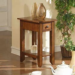 Winners Only Zahara 1 Drawer Small End Table - Mission Oak - AZH101E