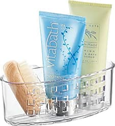 Loofas Sponges-Clear InterDesign Suction Bathroom Caddy for Soaps