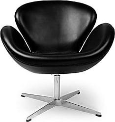 Kardiel SWAN-Black-Aniline Trumpeter Chair Leather