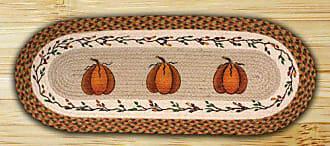 Earth Rugs 68-222HP Tablerunner, 13 x 36, Harvest Pumpkin