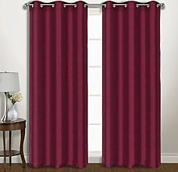 United Curtain Vintage Faux Silk Blackout Window Panel Pair, 74 by 95, Burgundy, 74 X 95