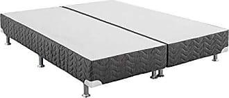 Ortobom Base Box Queen 24cmx158cmx198cm Excelente Physical Ortobom Cinza