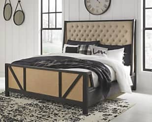 Ashley Furniture Grindleburg King Panel Bed, Linen