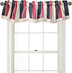 Violet Linen Decorative Deluxe Chenille, Striped Design, 60 x 15 Window Valance - Pink