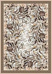 Milliken Carpet Pastiche Collection Barrington Court Oval Area Rug, 78 x 109, Ecru