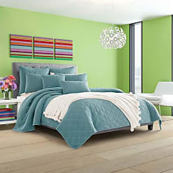 Five Queens Court Odessa Stonewash Contemporary Coverlet, Teal, Full/Queen