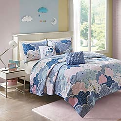 Urban Habitat Cloud Bedding Blue, Geometric, Unicorn - 4 Piece Kids Girls 100% Cotton Quilt Sets Coverlet, Twin XL