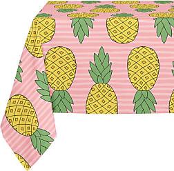 Kavka Designs Pink Pineapple Tablecloth - TBC-SPLLT-70X90-NOR395