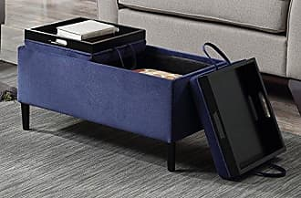 Convenience Concepts 143042BE Designs4Comfort Storage Ottoman, Blue