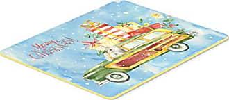 Carolines Treasures BB2488CMT Christmas Presents Between Friends Mastiff Brindle White Kitchen or Bath Mat Multicolor 20 x 30