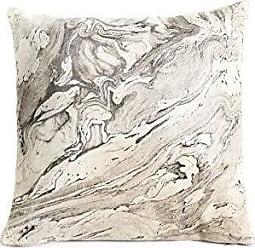 Zodax 18 Tall Melange Leather Throw, Gray Decorative Pillows