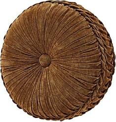 Five Queens Court Giodana Tufted Round Decorative Throw Pillow, Gold, 15x15