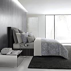 Revman International Vera Wang Transparent Leaves Bedding, King, Medium Grey