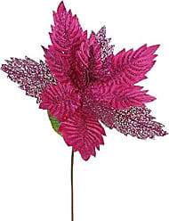 Vickerman QG162109 Poinsettia with 15 Flower Head & Paper wrapped wire Stem in 6/Bag, 22, Cerise