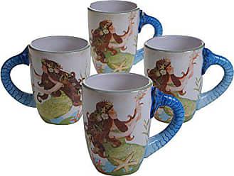 Certified International Sea Beauty Mugs (Set of 4), 20 oz, Multicolor