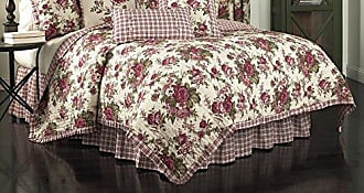 Ellery Homestyles Waverly 14770BEDDTWNTSN Norfolk 86-Inch by 68-Inch Reversible 4 Piece Twin Quilt Collection, Tea Stain