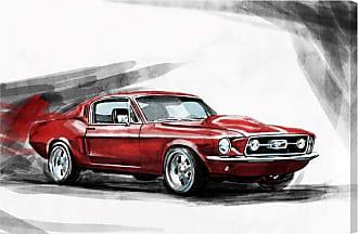 Hatcher & Ethan Red Beauty Canvas Wall Art - HE15222_60X40_CANV_XXHD_HE