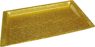 Winco USA Winco Acrylic Rectangular Textured Tray, Gold