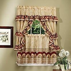 Sweet Home Collection Window Treatment Kitchen Curtain Set (4 Piece), 36, Sunflower