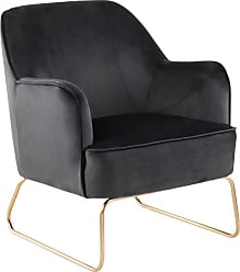 LumiSource Daniella Velvet Arm Chair Espresso - CHR-DANIELLASL AUBN
