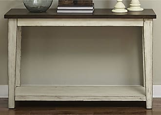 The Gray Barn OQuinn Weathered Bark and White Sofa Table (Weathered Bark and White Sofa Table)