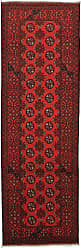 Nain Trading Afghan Akhche Rug 81x27 Runner Dark Brown/Rust (Afghanistan, Wool, Hand-Knotted)
