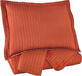 Ashley Furniture Signature Design - Raleda Queen Coverlet Set - Set of 3 - Contemporary - Orange