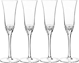 Qualia Glass Q251006 Reef Flute Set of 4 Glasses, 5.5 oz, Clear