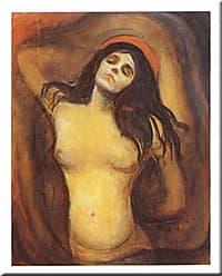 Buyartforless Buyartforless Madonna by Edvard Munch 20x16 Art Print Poster