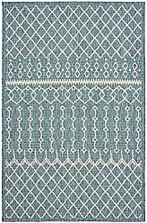 L.R. Resources Inc. LR Home SUNSH81247BGR5080 Sun Shower Indoor/Outdoor Area Rug, 5 x 8, Blue/Gray