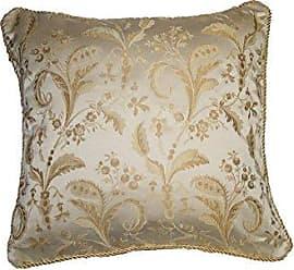 Violet Linen Luxury Damask Decorative Cushion Cover, 18 x 18, Beige