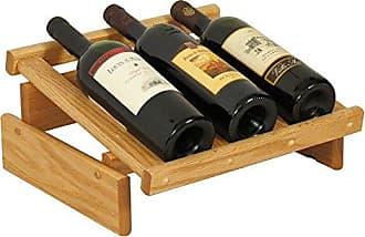 Wooden Mallet 3 Bottle Dakota Wine Display Rack, Light Oak