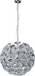 Maxim Lighting ET2 E22094-28 Fiori 20-Light Single Pendant, Polished Chrome Finish, Clear Murano Glass, G9 Xenon Bulb, 50W Max., Dry Safety Rated, 2700K Color Temp., Standard Dimmable, Fabric Shade Material, 1680 Rated Lumens