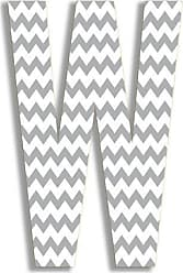 The Stupell Home Décor Collection The Stupell Home Decor Collection Gray Chevron Hanging Wall Initial, 18-Inch, W