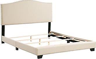 Boraam 95144 Dione Box Queen Bed, Tan