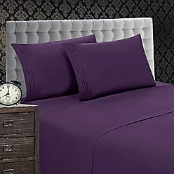 Elegant Comfort 1500 Thread Count Luxury Egyptian Quality Wrinkle and Fade Resistant 4-Piece Sheet Set, Full, Purple