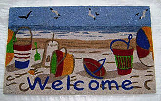 Geo Crafts Vinyl Back Beach Welcome Doormat