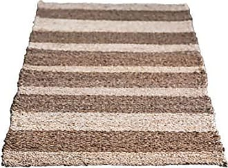Creative Co-op Creative Co-op 2 x 6 Brown Striped Woven Seagrass & Jute Rug