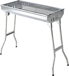 Homcom Stainless Steel Folding Charcoal BBQ Grill Set - 846-014