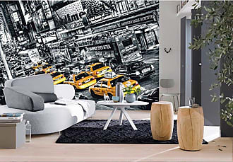 Ideal Decor Cabs Queue Wall Mural - DM116