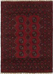 Nain Trading Oriental Rug Afghan Akhche 49x35 Dark Grey/Dark Brown (Wool, Afghanistan, Hand-Knotted)