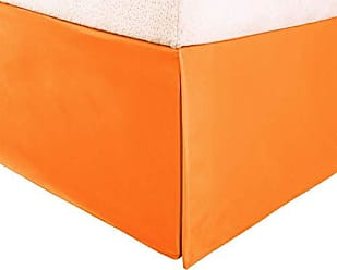 Home City Inc. Superior 100% Brushed Microfiber Pleated Bed Skirt, King, Orange