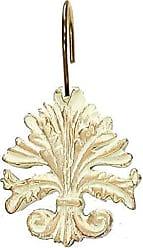 Ben&Jonah Ben & Jonah Brushed Gold Fleur Dis Lis Resin Shower Curtain Hooks, Set of 12 Splash Collection by Ben&Jonah