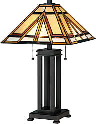 Quoizel TF2095T Tiffany 2 Light 23 Tall Accent Table Lamp with