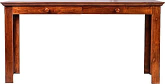 Forest Designs Traditional Writing Table with Drawers and Wood Knobs Unfinished Alder, Size: 66 in. - B1114C- TA-66W-UA